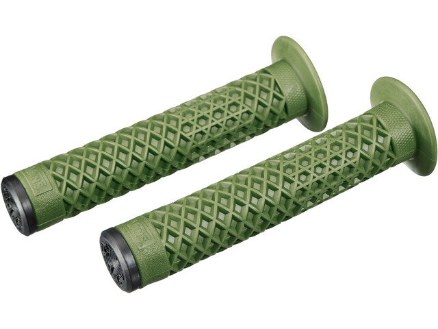 CULT Vans Waffle BMX Grips with Flange by ODI, olive